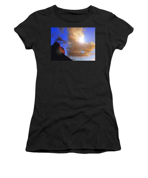 Sedona Mountain Cloud Sun Women's T-Shirt (Athletic Fit)