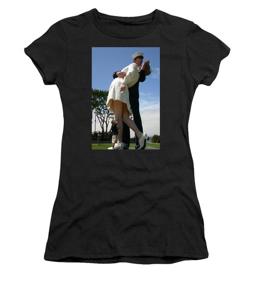 Women's T-Shirt (Junior Cut) featuring the photograph Seeeeport Village San Diego by Marie Neder