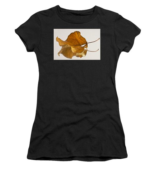 Seeing Double Autumn Leaf  Women's T-Shirt (Athletic Fit)