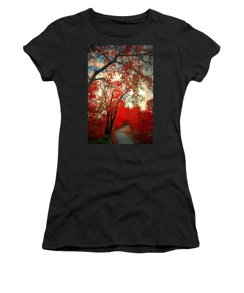 Women's T-Shirt (Junior Cut) featuring the photograph Seeing Red 2 by Tara Turner