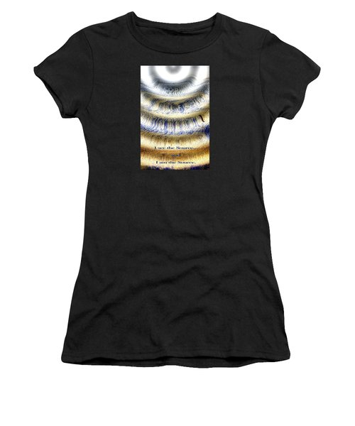 Seeing The Source Women's T-Shirt (Athletic Fit)