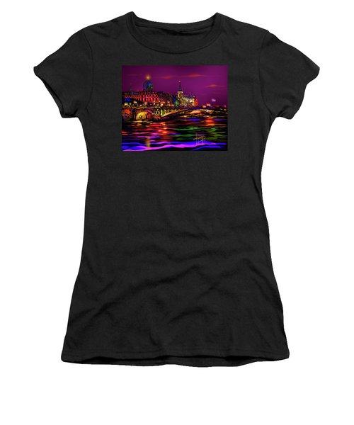 Seine, Paris Women's T-Shirt (Junior Cut) by DC Langer