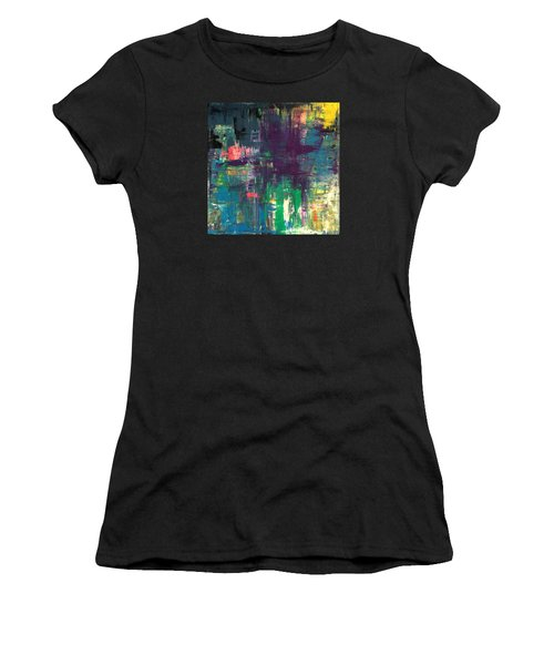 Seize The Day 48x48 Print Abstract Painting Modern Art Original Women's T-Shirt (Athletic Fit)