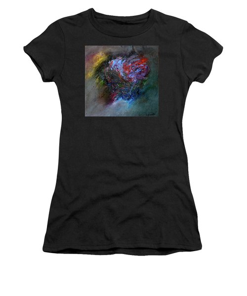 Women's T-Shirt featuring the painting Self  Portrait  by Michael Lucarelli