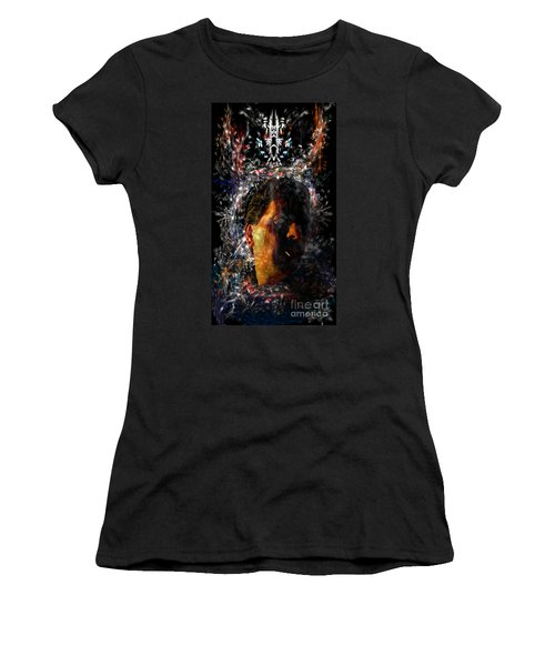 Women's T-Shirt featuring the digital art Self Portrait With Aura by Reed Novotny