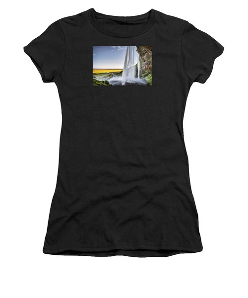 Seljalandsfoss Women's T-Shirt (Athletic Fit)