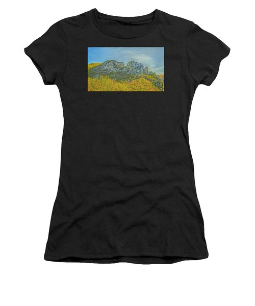 Women's T-Shirt featuring the photograph Seneca Rock West Virginia by David Waldrop