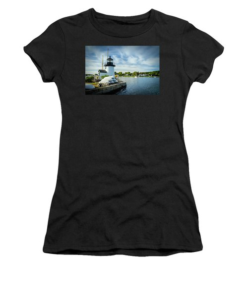 Sentinels Of The Sea Lighthouse Women's T-Shirt (Athletic Fit)