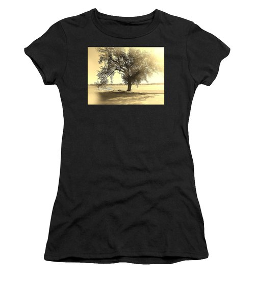 Sepia Colors In A Tree Women's T-Shirt