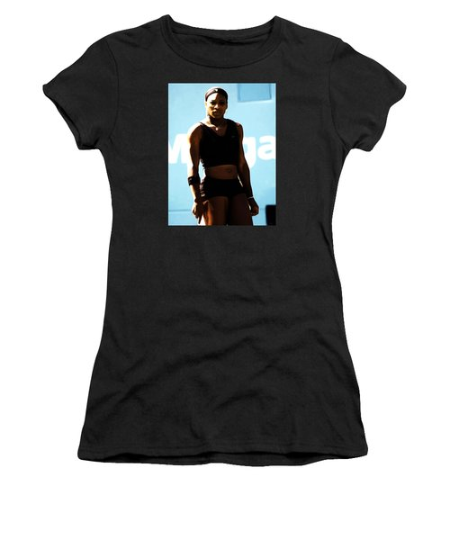 Serena Williams Match Point IIi Women's T-Shirt (Junior Cut) by Brian Reaves