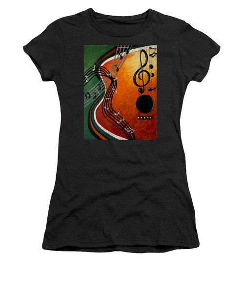 Women's T-Shirt (Junior Cut) featuring the painting Serenade by Teresa Wing