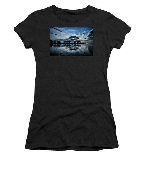 Serene Summer Water And Clouds Women's T-Shirt