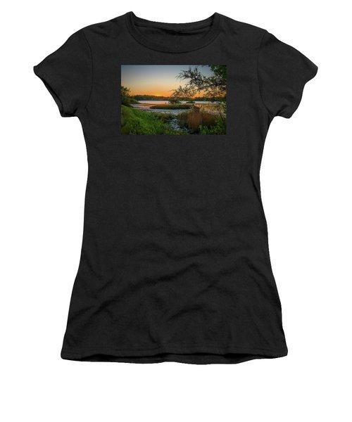 Serene Sunset Women's T-Shirt (Athletic Fit)