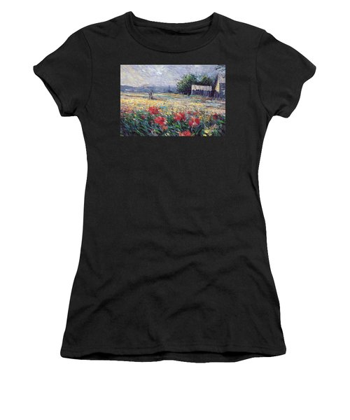 Women's T-Shirt featuring the painting Serenety by Rosario Piazza
