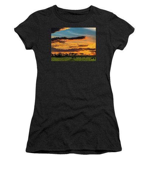 Serengeti Sunset Women's T-Shirt (Athletic Fit)