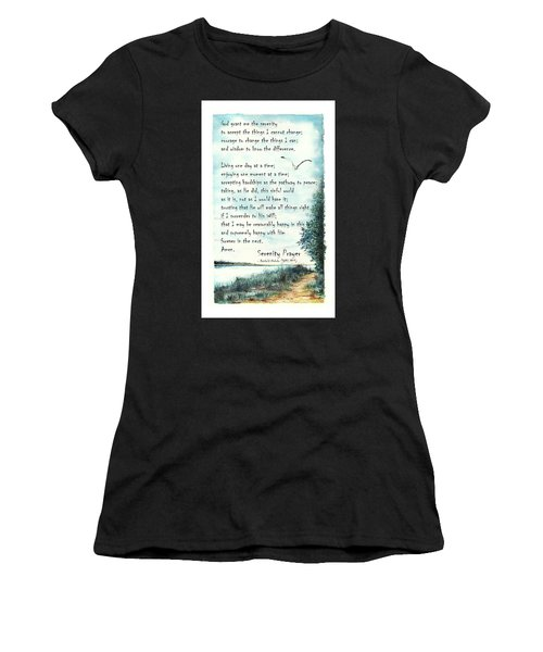 Serenity Prayer The Full Version Women's T-Shirt (Athletic Fit)