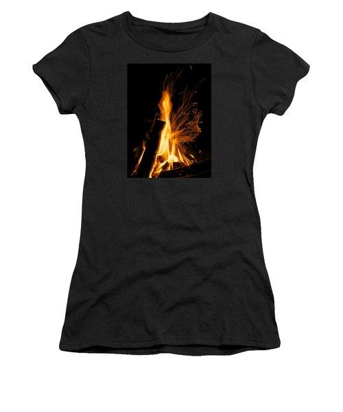 Set The Night On Fire Women's T-Shirt (Junior Cut) by Jane Eleanor Nicholas
