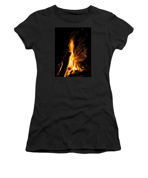 Set The Night On Fire Women's T-Shirt (Athletic Fit)