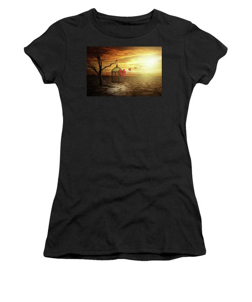 Women's T-Shirt (Junior Cut) featuring the digital art Set Your Self Free by Nathan Wright