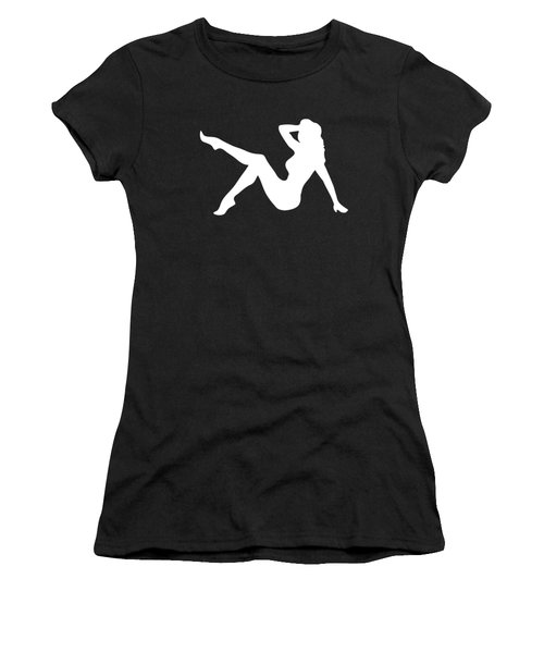 Sexy Trucker Girl White Tee Women's T-Shirt
