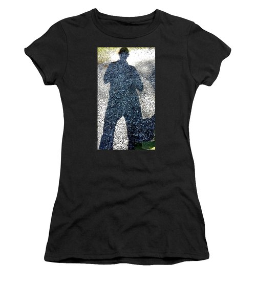 Shadow Man Women's T-Shirt (Athletic Fit)
