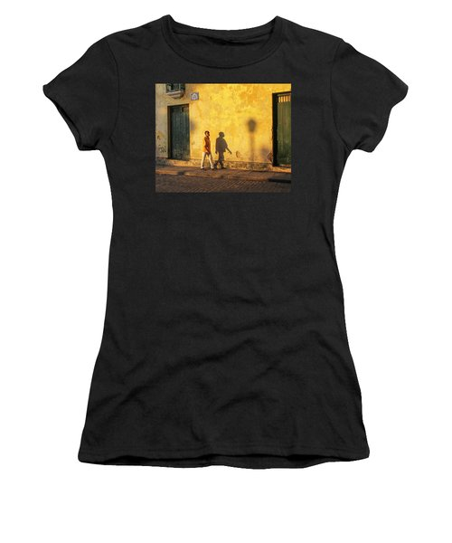 Shadow Walking Women's T-Shirt (Athletic Fit)