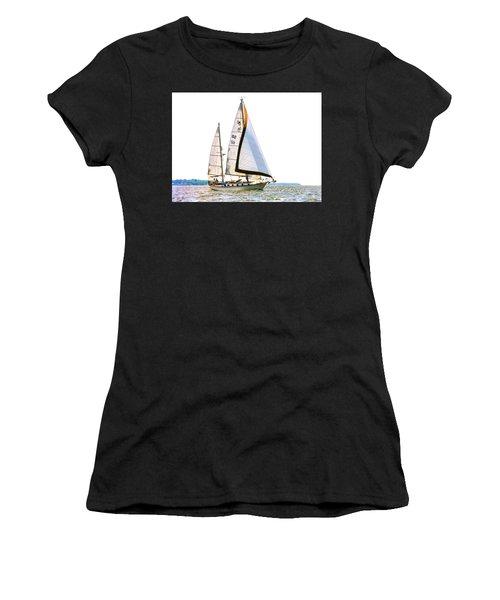 Shannon 38 Kittiwake On Chesapeake Bay Women's T-Shirt