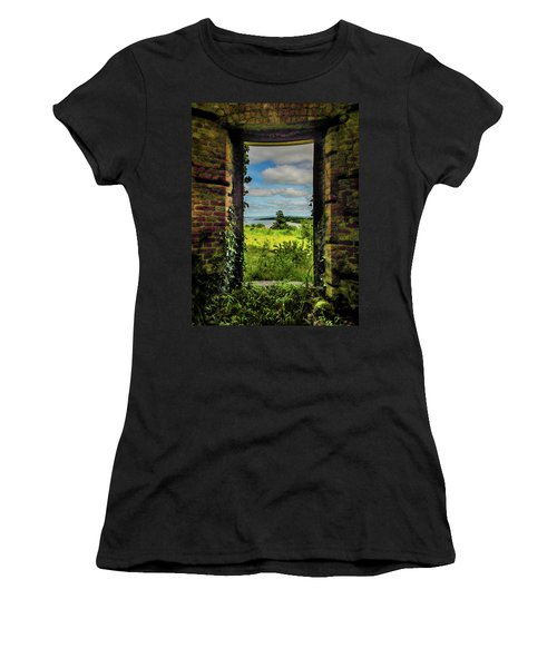 Women's T-Shirt (Athletic Fit) featuring the photograph Shannon Estuary From Abandoned Paradise House by James Truett