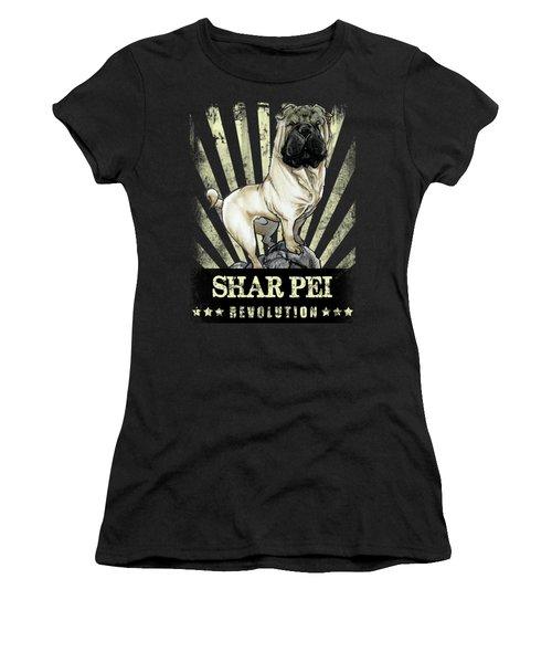 Shar Pei Revolution Women's T-Shirt (Athletic Fit)