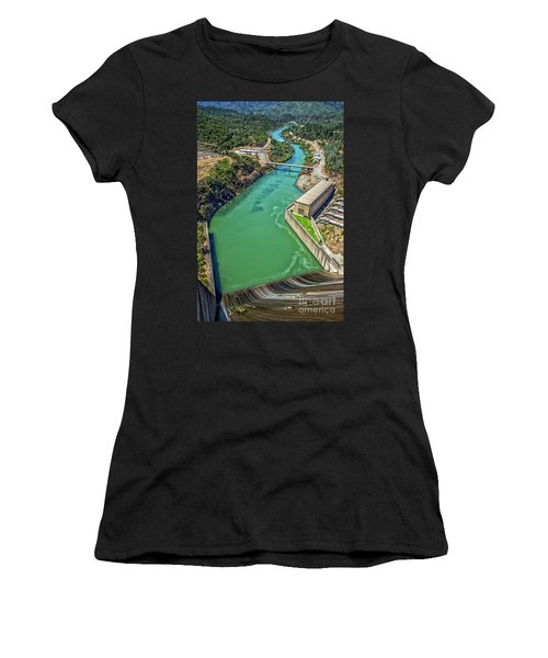 Shasta Lake Dam Women's T-Shirt (Athletic Fit)