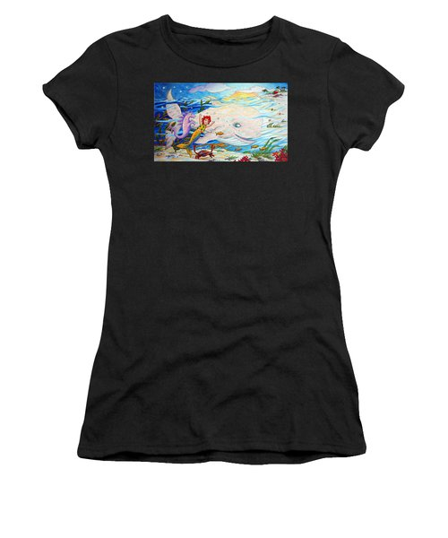 She Joyfully Swims  Women's T-Shirt (Athletic Fit)