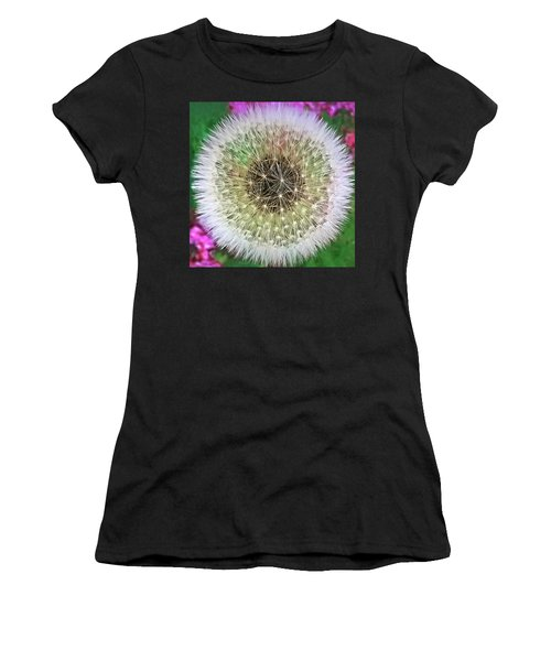 Women's T-Shirt (Athletic Fit) featuring the photograph She Loves Me, She Loves Me Not by Roger Bester