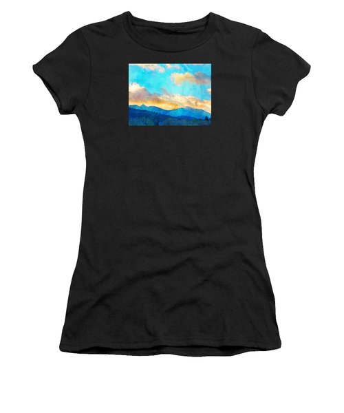 Sheeps Head And Truchas Peaks-predawn December Women's T-Shirt (Athletic Fit)