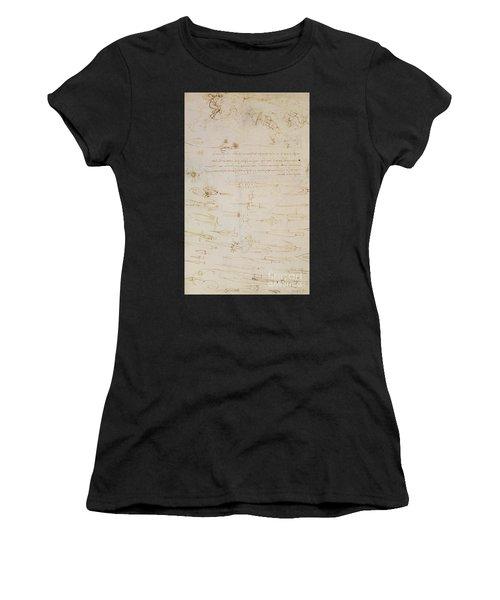 Sheet Of Studies Of Foot Soldiers And Horsemen In Combat, And Halbards Women's T-Shirt