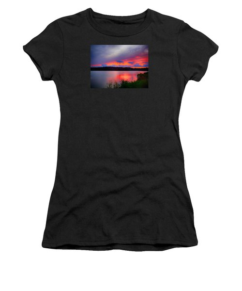 Shelf Cloud At Sunset Women's T-Shirt (Junior Cut) by Bill Barber