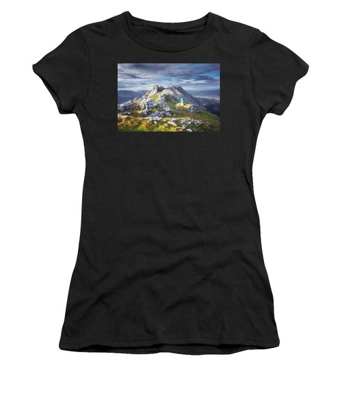 Shelter In The Top Of Urkiola Mountains Women's T-Shirt