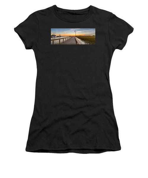 Shem Creek Pier Panoramic Women's T-Shirt