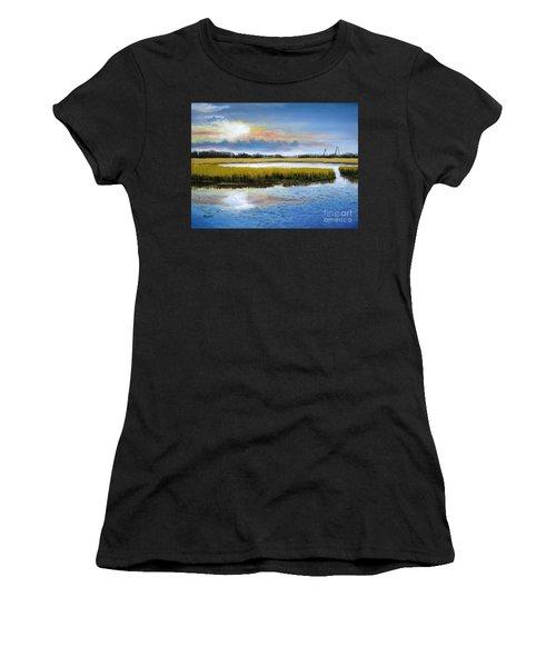 Shem Creek Sky Women's T-Shirt (Athletic Fit)