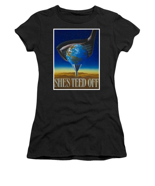 She's Teed Off Women's T-Shirt (Athletic Fit)