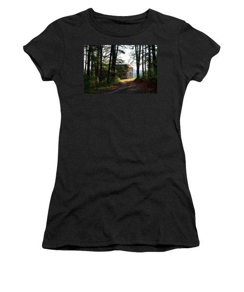 Women's T-Shirt (Junior Cut) featuring the photograph Shields Farm by Kathryn Meyer