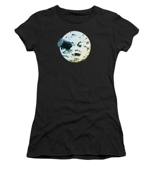 Shoot The Moon Women's T-Shirt (Athletic Fit)
