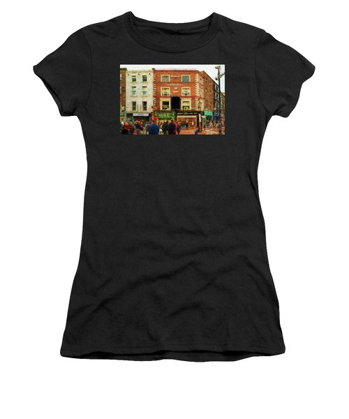 shopping on Grafton Street in Dublin Women's T-Shirt (Athletic Fit)