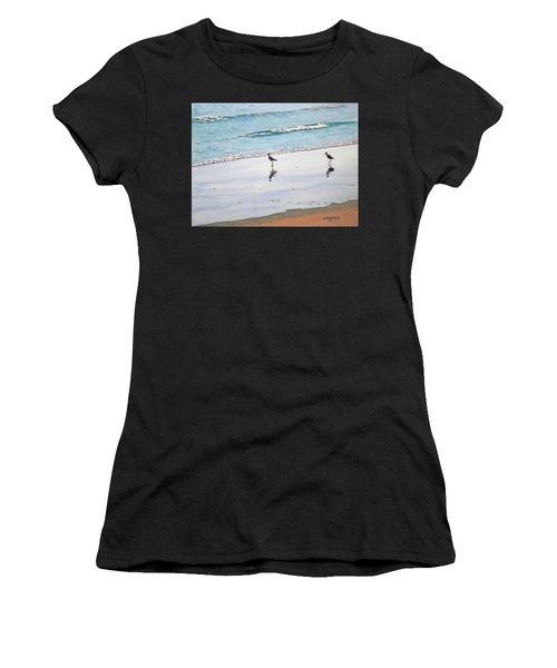 Shore Birds Women's T-Shirt (Athletic Fit)