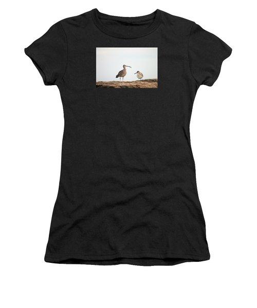 Shorebirds Of Windansea Beach Women's T-Shirt (Athletic Fit)