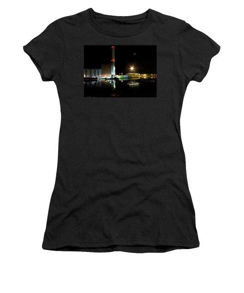 Shoreham Power Station Night Reflection 2 Women's T-Shirt (Athletic Fit)