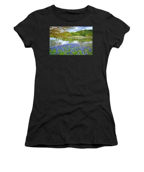 Shoreline Bluebonnets At Lake Travis Women's T-Shirt