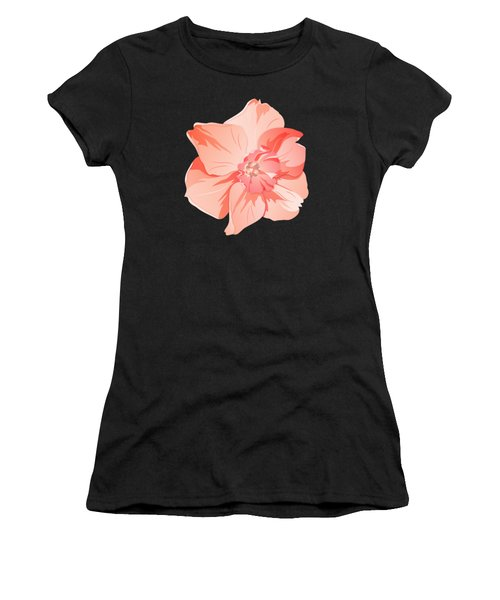 Short Trumpet Daffodil In Warm Pink Women's T-Shirt (Athletic Fit)