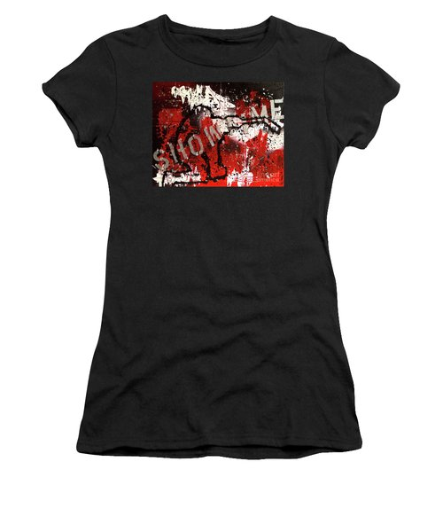 Showtime At The Madhouse Women's T-Shirt (Junior Cut) by Melissa Goodrich
