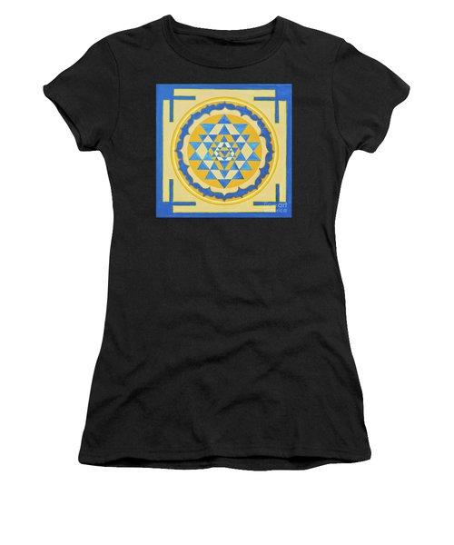 Shri Yantra For Meditation Painted Women's T-Shirt