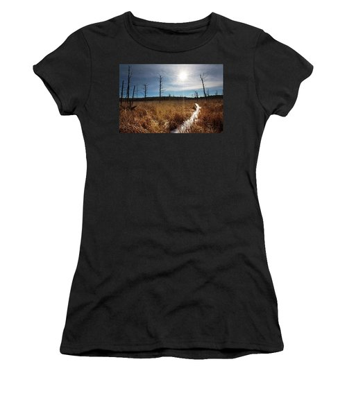 Women's T-Shirt (Athletic Fit) featuring the photograph Shrub Swamp by Sue Collura